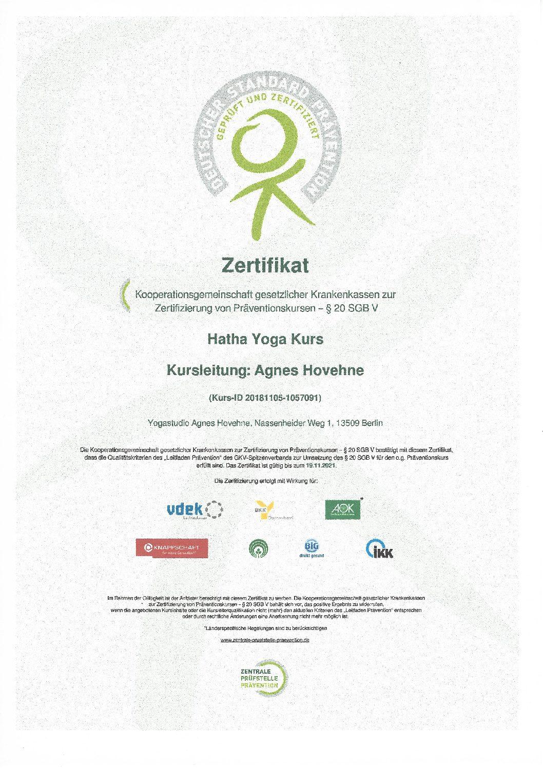 ZPP Zertifizierung von Präventionskursen